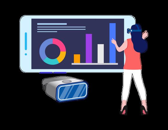 Virtual Data Analysis Illustration