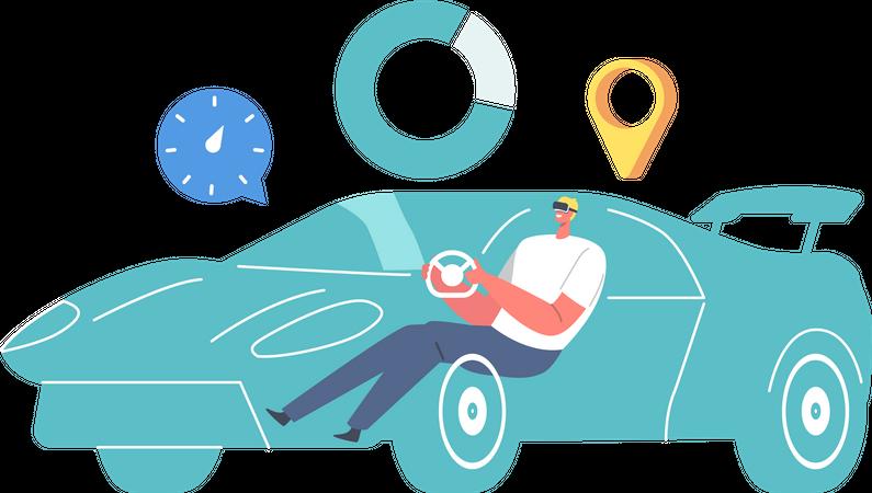 Virtual Driving Illustration