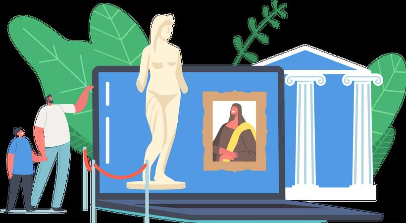 Virtual Gallery Tour Illustration