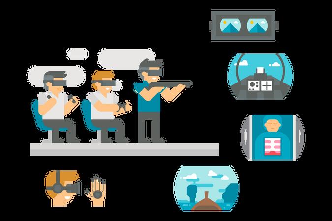Virtual Gaming Illustration