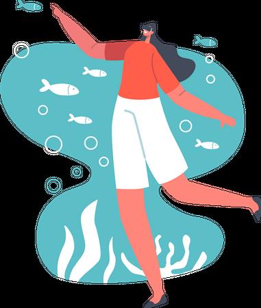 Virtual Sea Experience Illustration