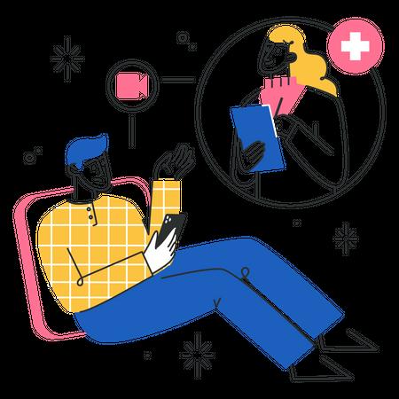 Virtual therapist Illustration