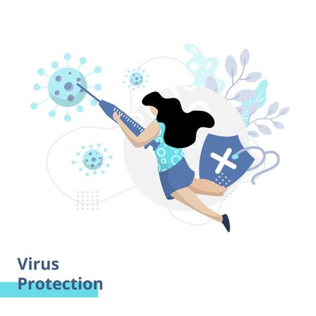 Virus Protection Illustration