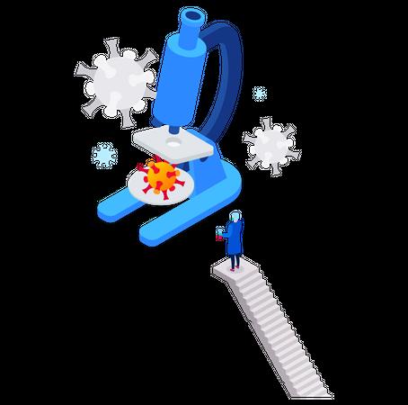 Virus research Illustration