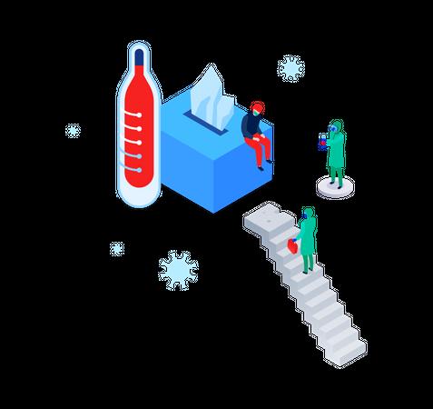 Virus test Illustration