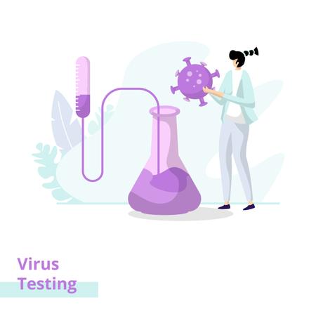 Virus Testing Illustration