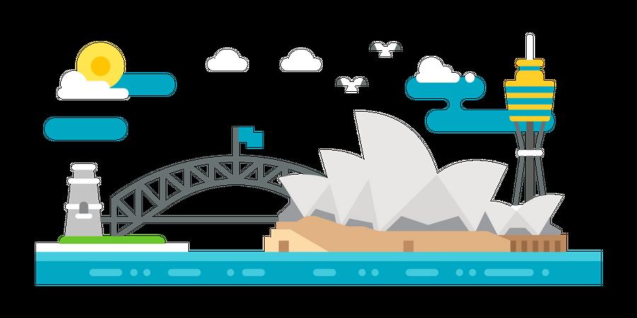Visit Australia Illustration