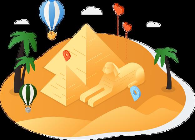 Visit Egypt Illustration