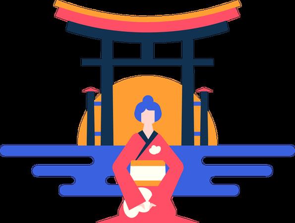 Visit Japan Illustration