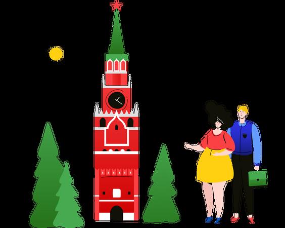Visit Russia Illustration