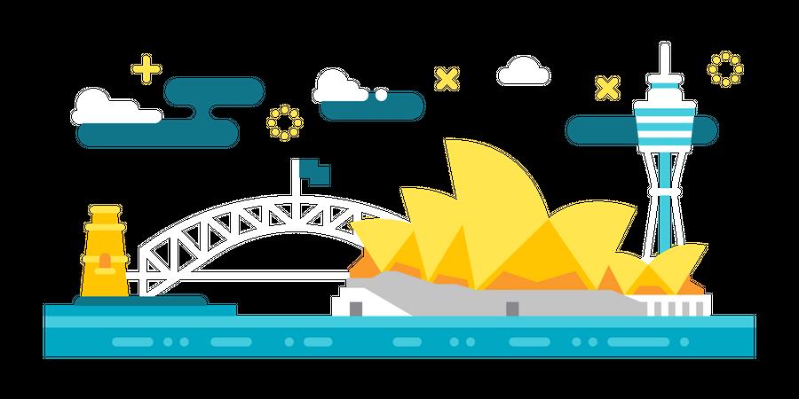 Visit Sydney Illustration