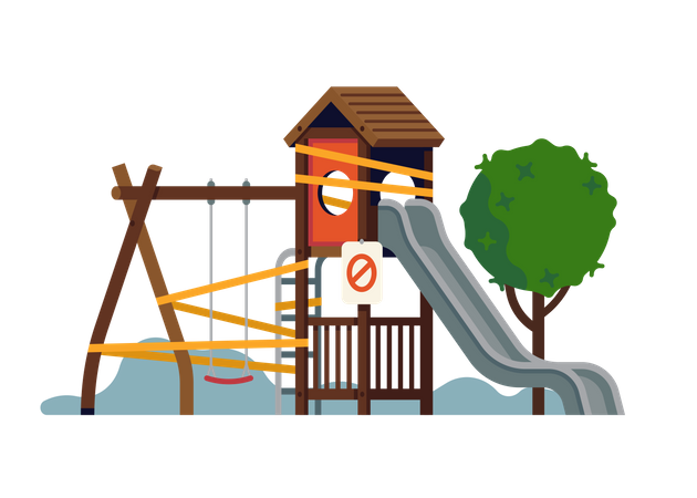 Visual on lockdown social norms and regulations in recreational areas Illustration