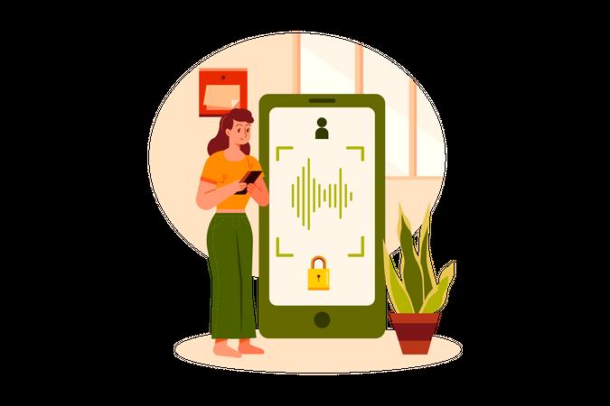 Voice authentication security Illustration