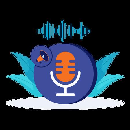Voice recording Illustration