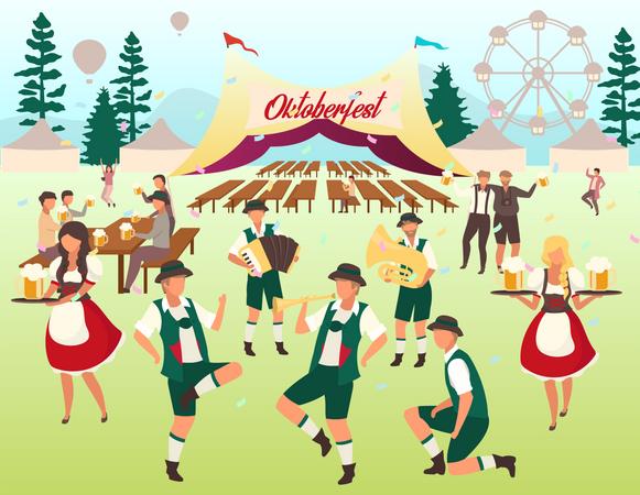Volksfest Illustration