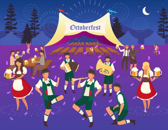 Volksfest waitress Illustration