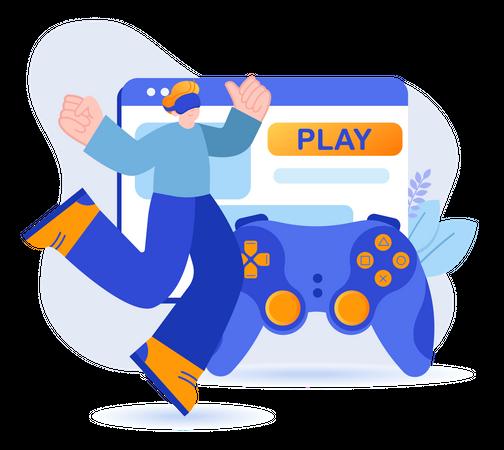 VR Gaming Illustration