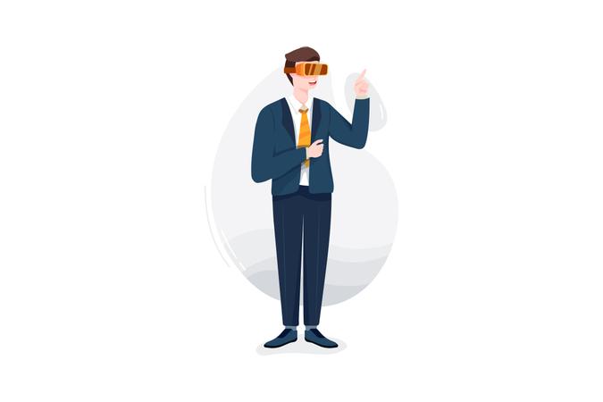 VR glasses Illustration