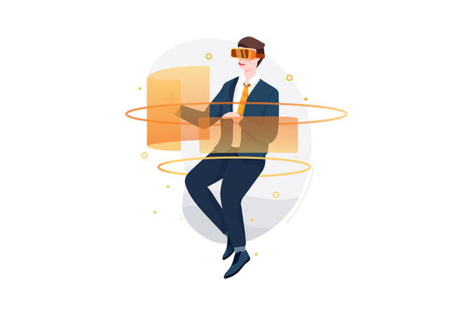 VR Technology Illustration