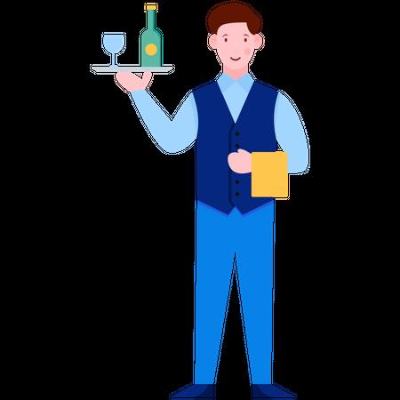 Waiter Illustration