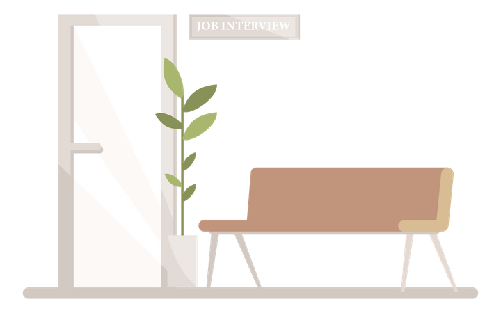 Waiting area for job interview Illustration