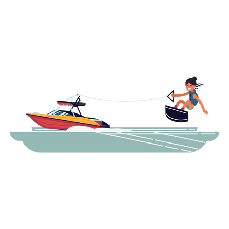 Wakeboarding Illustration