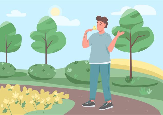 Walk in park Illustration