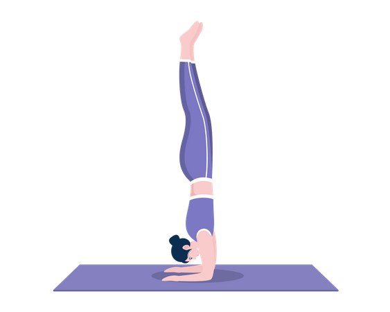 Wall Forearm stand pose Illustration