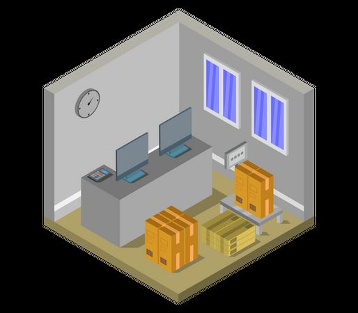 Warehouse office Illustration