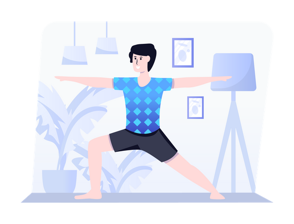 Warrior yoga Illustration