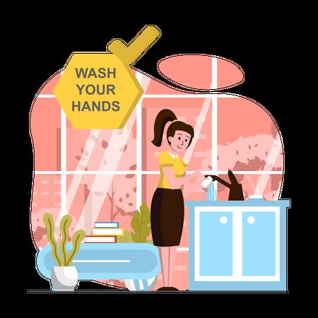 Wash your hand Illustration