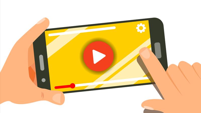 Watching Video On Smartphone Illustration