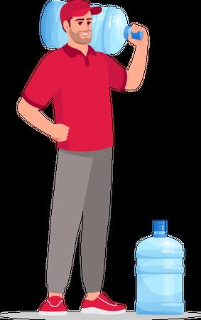 Water bottle delivery Illustration