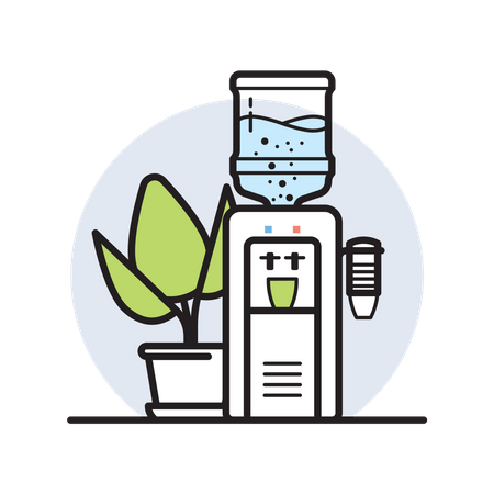Water Cooler Illustration