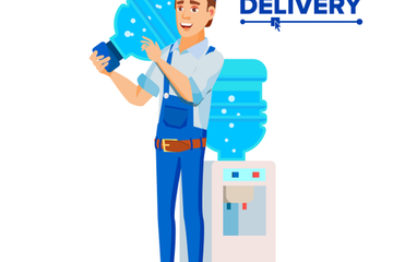 Water Delivery Service Illustration Pack