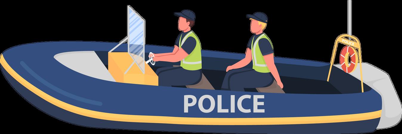 Water police Illustration