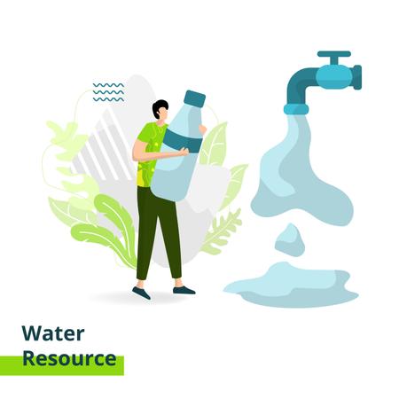 Water Resource Illustration