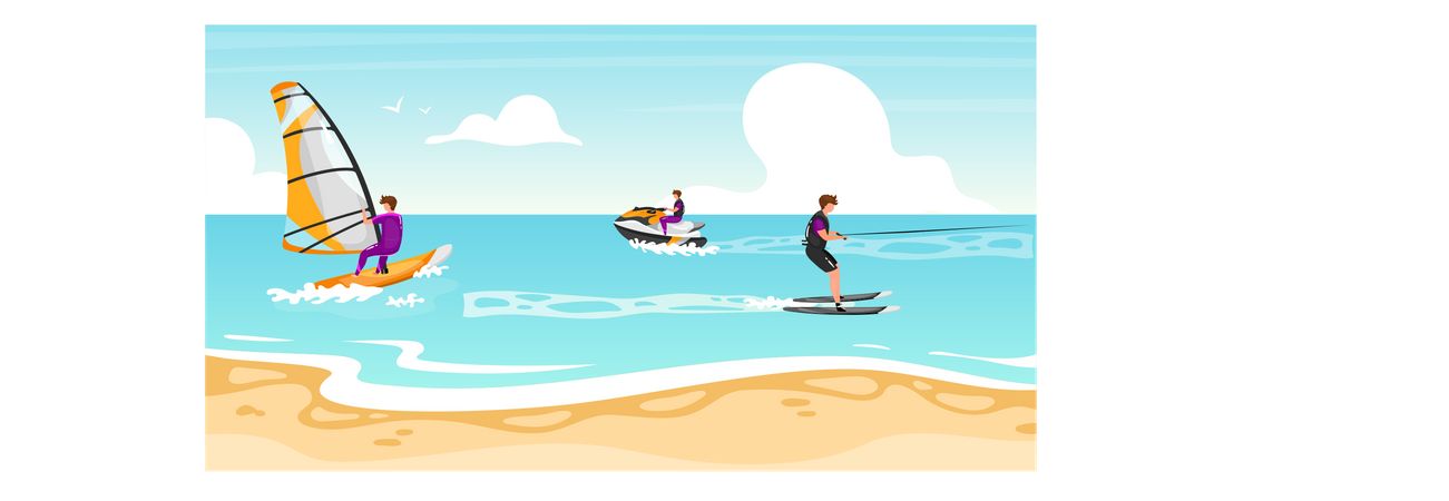 Water sports Illustration