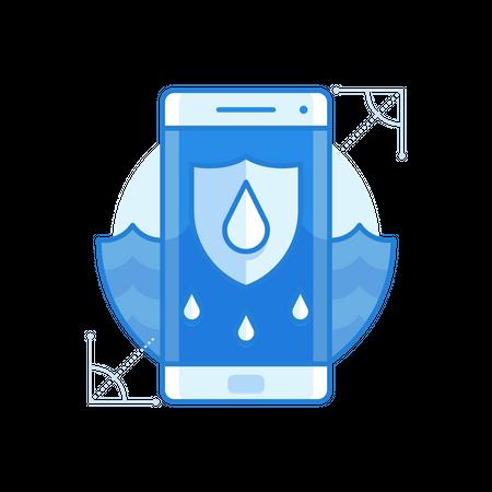 Waterproof Mobile Illustration