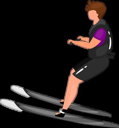 Waterskiing Illustration