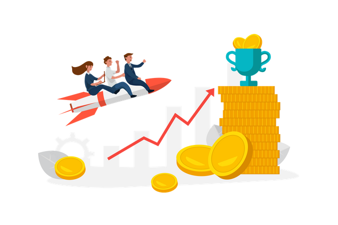 Way to business success Illustration