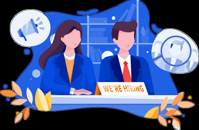 We are hiring Illustration