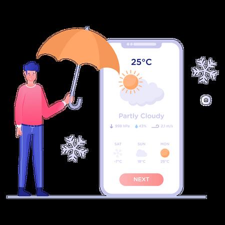 Weather Forecast Illustration
