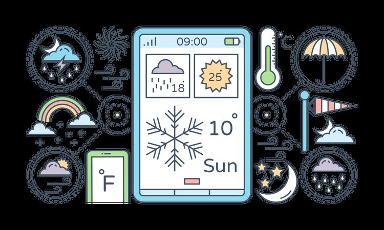 Weather Forecast App Illustration