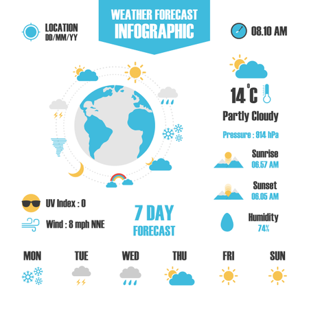 Weather Forecast Infographic Illustration