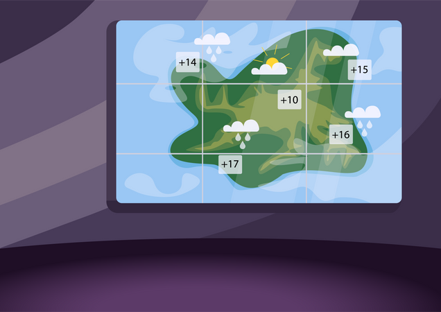 Weather forecast studio Illustration