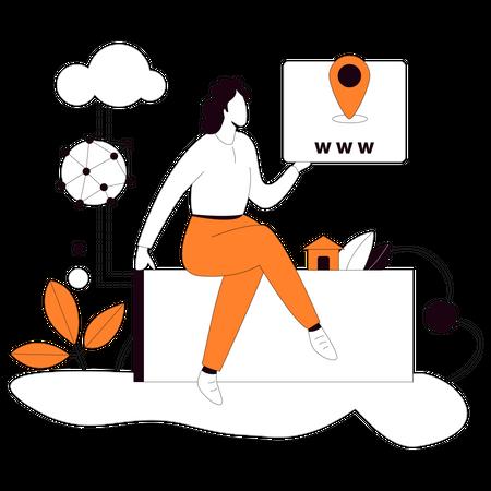 Web Address Illustration