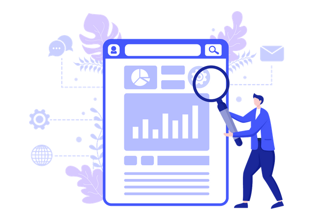 Web analysis Illustration