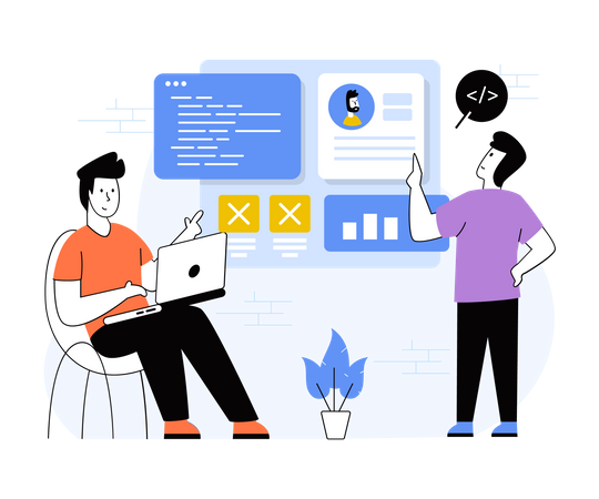 Web Application Development Illustration