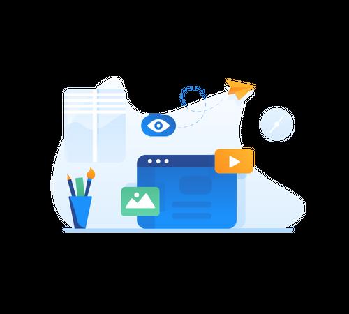 Web browsing Illustration